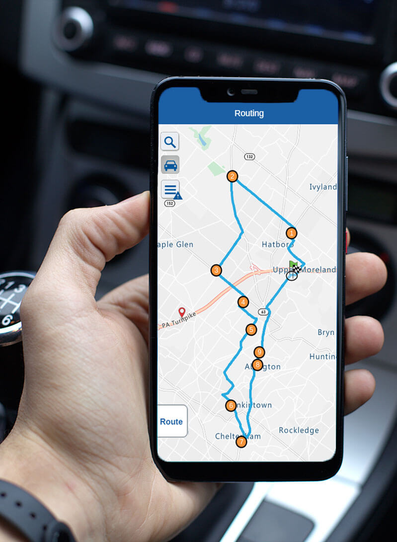 Create a route map and use it on your smartphone