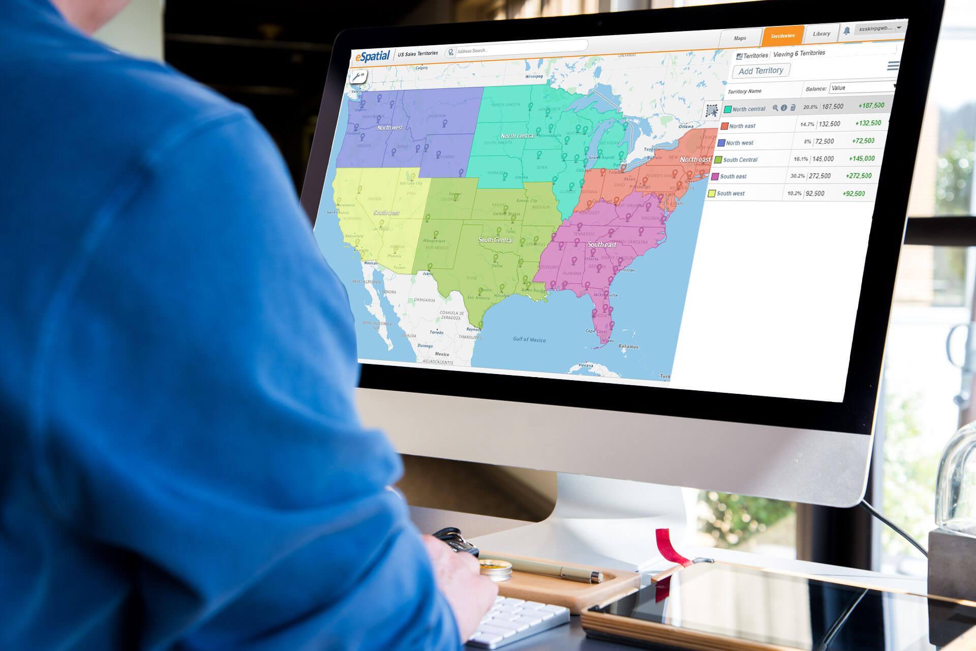 eSpatial territory management software