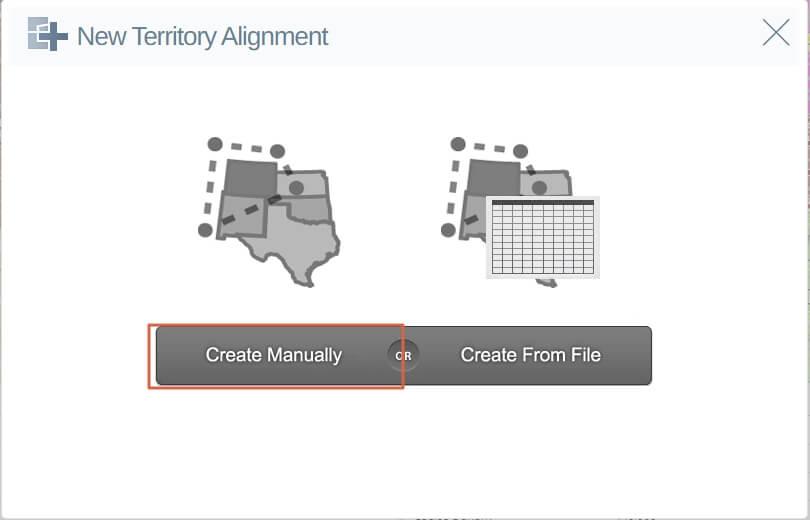 Create territory manually