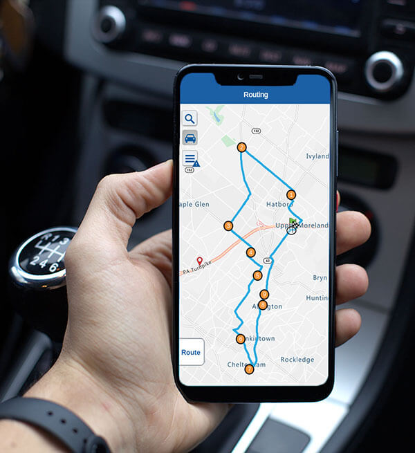 Route mapping on a smartphone