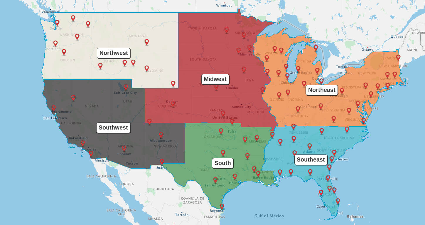 Instantly visualize your sales territories