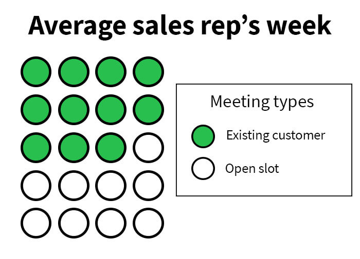 Sales reps are averaging 11 appointments per week with existing accounts