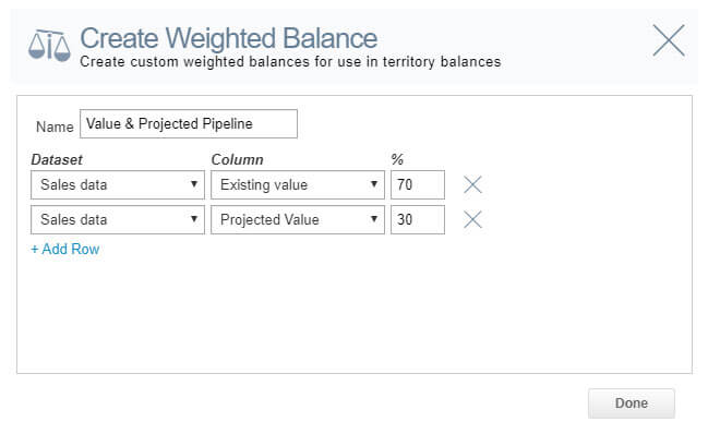 A weighted balance used for aligning territories.