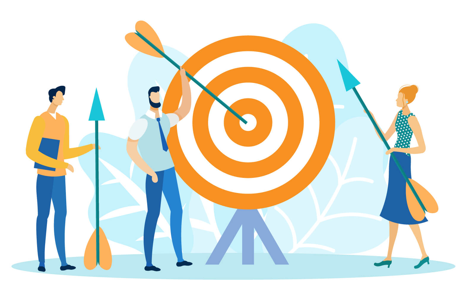 Sales team identifying their target