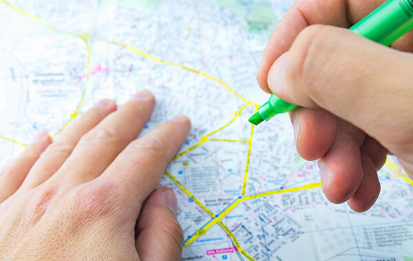 Creating a territory map by hand with a highlighter
