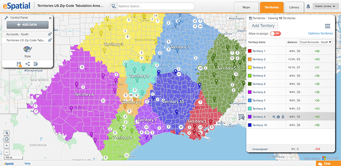 Using a territory optimization tool helps you create territories in a fraction of the time.