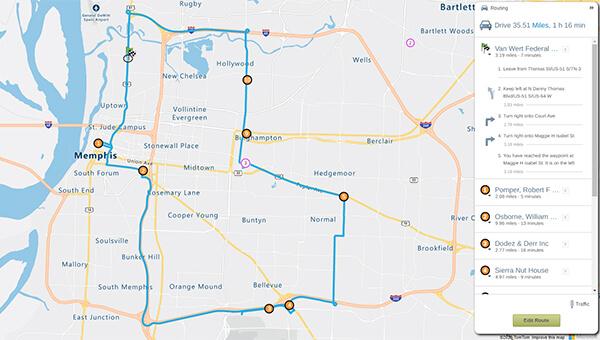 Memphis route optimization