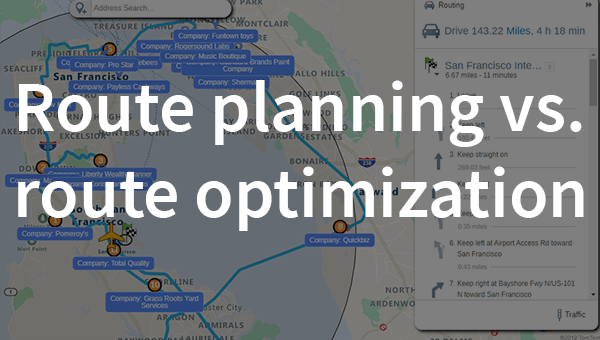 Route planning vs optimization