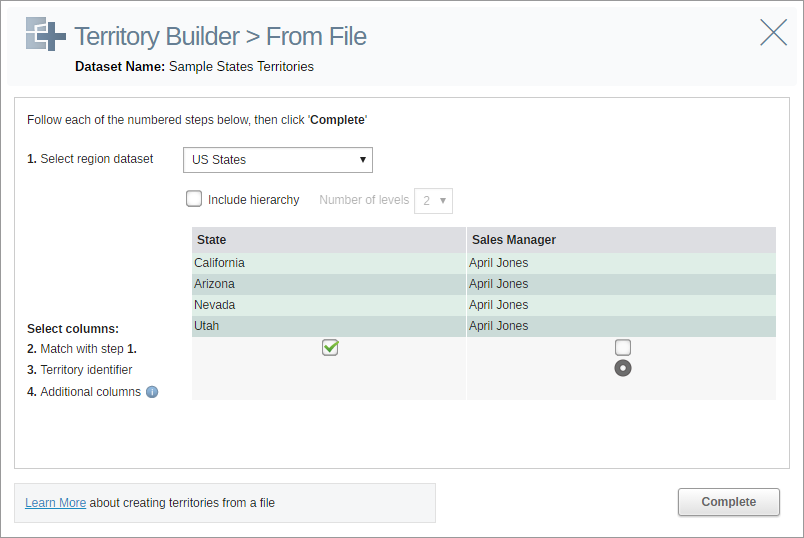 Configure your territory file for import