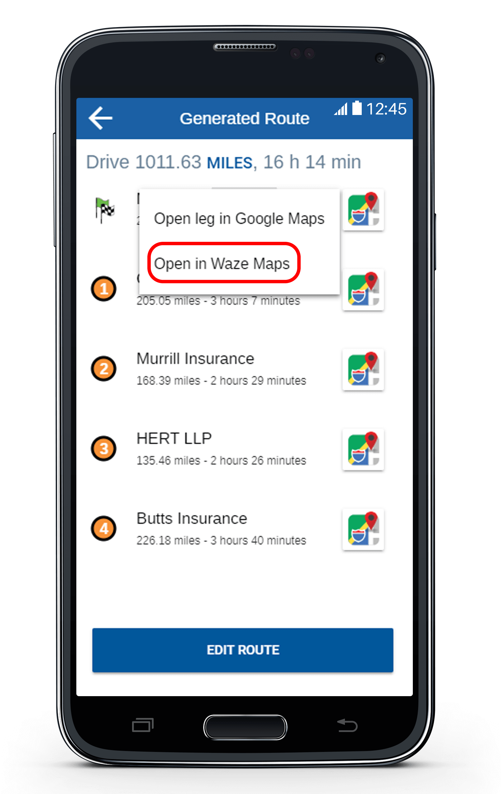 Export Your Route To Waze with eSpatial