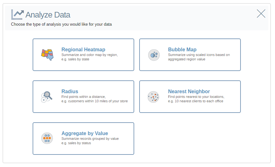 Make Decisions Faster with Mapping - Choose Your Analysis Type