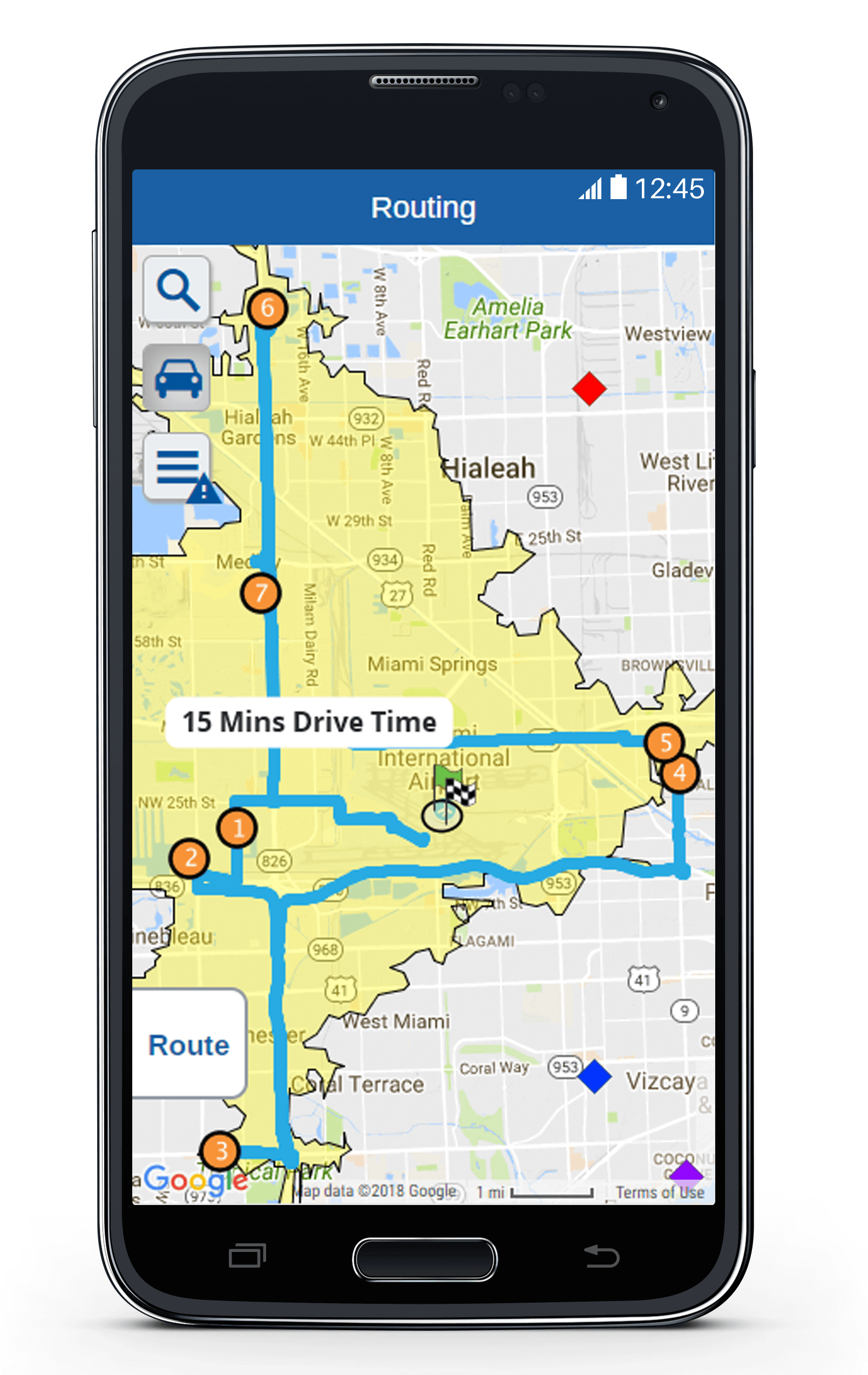 Route Planning with eSpatial Mobile