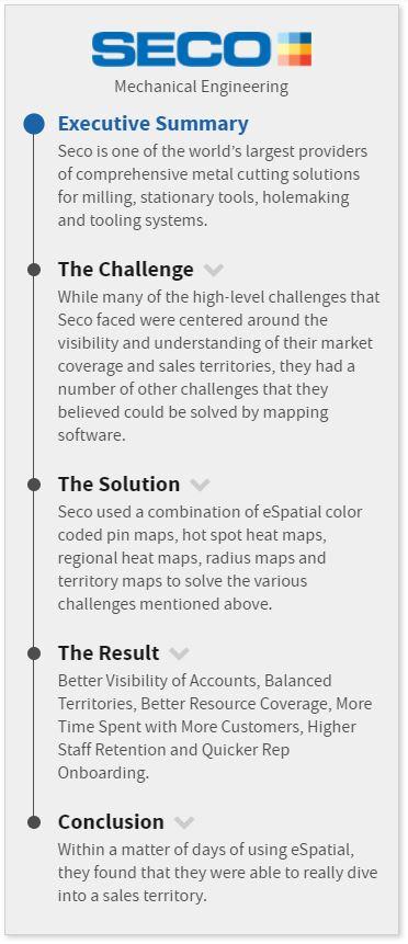 Seco Tools case study navigation