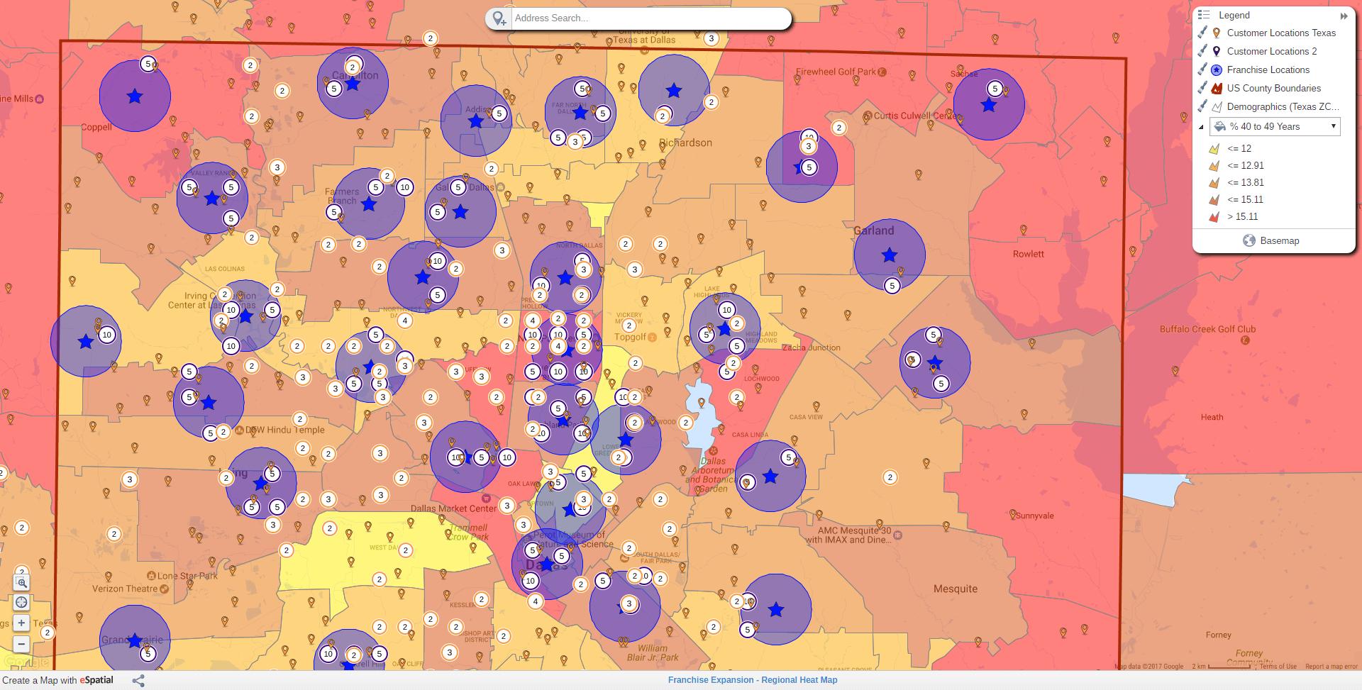 Regional Heat Maps