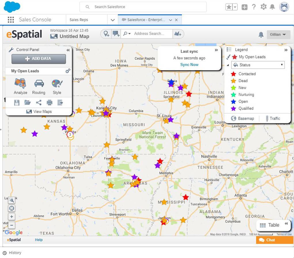 Map Salesforce Data