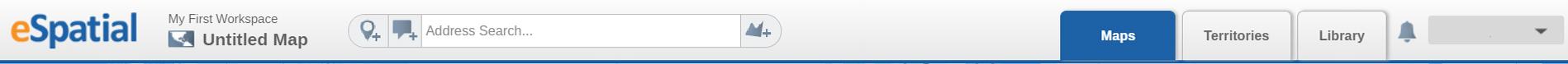 eSpatial toolbar