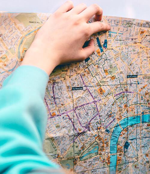 Manually drawing a sales territory map
