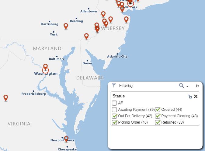 Data filtering map
