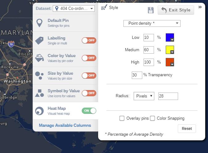 Heat map styling