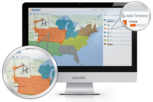 Territory mapping software