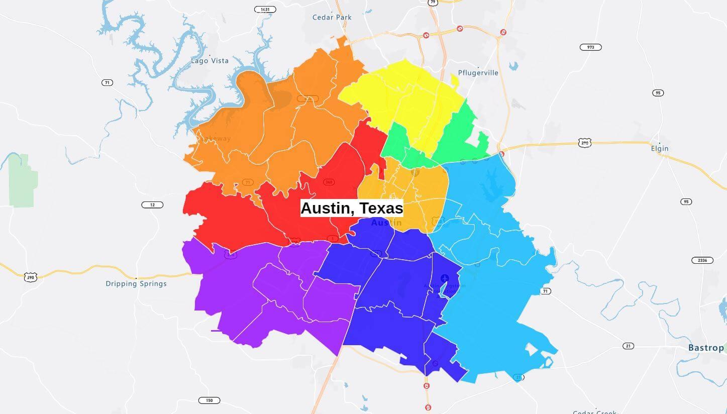Three-digit ZIP code boundaries used for sales territories