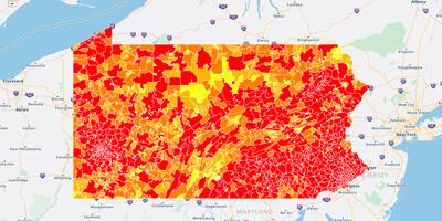 ZIP code heat map